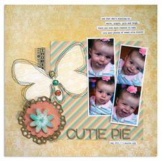 Cutie Pie Butterfly scrapbook page
