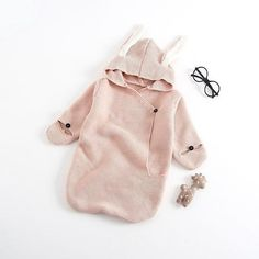 Autumn Einter New Baby Romper Bunny Ears Knitted Baby Sleeping Bag Is Stereo Baby Clothes for Newborns Baby GIFT Clothes - Rompers - Bunny Outfit, Romper Outfit, Baby Swaddle Blankets, Knitted Baby Blankets, Newborn Baby Gifts, Baby Outfits Newborn, Newborn Photos, Baby Shower Gift Basket, Baby Girl Romper