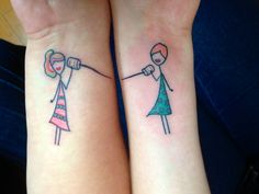 Best friend tattoos. Personalize your own :)   @Heather Riley Kinda adorable!  We could change!!