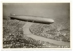 The Graf Zeppelin over Basel (1930) by postaletrice