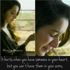 shraddha kapoor sad images with quotes Movie Love Quotes, Morning Love Quotes, Missing Quotes, Girly Quotes, Song Quotes, Couple Quotes, True Quotes, Qoutes, Bollywood Love Quotes