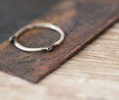 Spore Ring - Oxidized Sterling Silver Ring via Etsy