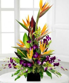 birds of paradise arrangements | Home Design Floral Arrangement Tips: Birds of Paradise