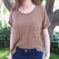 Tan Pocket Tee Forever 21   Basic Tan Pocket Tee from Forever 21  Brand: Forever 21  Size: L  NO Trades Prices Negotiable ALL offers made through the offer button!   Tags (for discovery); urban outfitters, hot topic, pacsun, asos, h&m, basics, Forever 21 Tops Tees - Short Sleeve