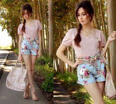 shorts estampados moda verao 2015 1