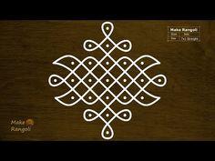 Sikku Kolam with 7x1 dots   Melika Muggulu   Chukkala Muggulu - YouTube
