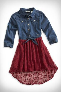 GUESS Kids Big Girl Floral Lace Two-Fer Dress (7-16) | GUESS.com