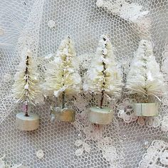 Itsy Bitsy bottle brush trees in  white CSSTeam by karlanathan, $6.00