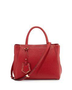 e3b7fa3e71ac L0H76 Fendi 2Jours Petit Saffiano Tote Bag