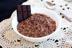 I want to wake up to Hot Chocolate Steel-Cut Oatmeal! #hotchocolateoatmeal #slowcookeroatmeal