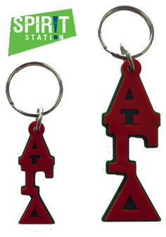Alpha Gamma Delta Acrylic Letter Keychain-On sale this week! (1/20-1/26/13)
