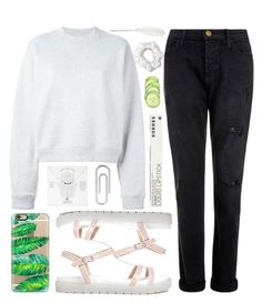 """come and join me #3"" by deandelaina on Polyvore featuring Acne Studios, Current/Elliott, ASOS, Casetify, Dogeared, Bulgari, Korres, American Apparel and Maison Margiela"