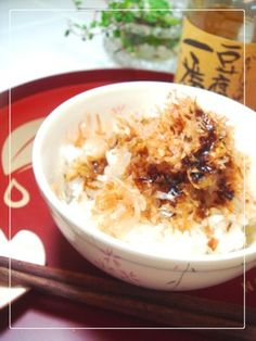 ご飯がススム♫かつお節醤油ご飯 by いちごぱぴこ [クックパッド] 簡単 ...