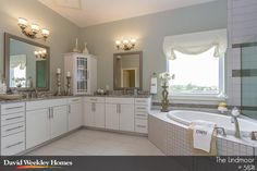 This Master Bath has a beautifully clean and high-class look! The Lindmoor - Indianapolis, IN