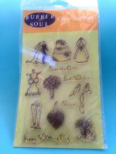 #RubberSoul 3006 #Wedding #ClearStamp Set #LauraKirsteCampbell New In Package