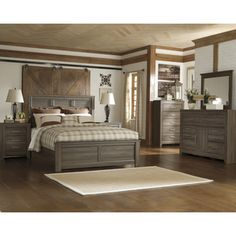Signature Design by Ashley Juararo Dark Brown Panel Bed   Overstock™ Shopping - Great Deals on Signature Design by Ashley Beds