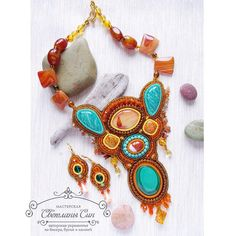 """Necklace ""Firebird"" Комплект ""Жар-птица"". Нашел хозяйку) #мастерская_син #sinbead #sinbeadjewelry #jewelry #handmade #украшение #ручнаяработа #necklace…"""