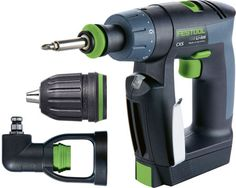 Festool's new CSX compact cordless drill looks mighty ergonomic. The versatility of its interchangeable chuck make it even more appealing!