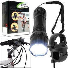 Trademark Commerce 72-14390 Super Bright 14 LED Flashlight w/ Bicycle Clip