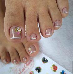 summer toenails toenail designs for summer, simple pedicures, hot toenails summer toenails toenail designs for summer, simple pedicures, hot toenails 2019 Pretty Toe Nails, Cute Toe Nails, Fancy Nails, My Nails, Toe Nail Color, Toe Nail Art, Nail Colors, Acrylic Nails, Coffin Nails