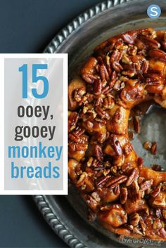 Here's a list of the 15 best monkey bread recipes. From apple cinnamon, mini garlic breads, s'mores, ham, egg & cheese, maple bacon and more - yum yum!! http://simplemost.com/15-unique-monkey-bread-recipes-ooey-gooey-delicious-pass?utm_campaign=social-account&utm_source=pinterest&utm_medium=organic&utm_content=pin-description