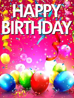 Happy Birthday Wishes Greetings For Friends And Colleges Birthday is the most important day of everyone life. and this coming in every one person eve… Happy Birthday 22, Happy Birthday Greetings Friends, Free Birthday Card, Happy Birthday Wallpaper, Happy Birthday Wishes Cards, Happy Birthday Celebration, Birthday Blessings, Happy Birthday Balloons, Happy Birthday Images