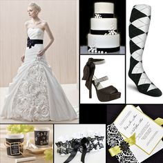 Black and white wedding themes and inspirations