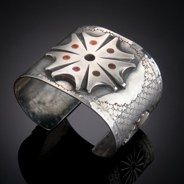 Awesome - Canyon City Rowel Cuff   sterling, copper - susan adams jewelry
