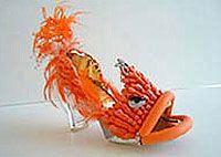 """Fierce Fish"" Acrylic Fingernails, Feathers, Vinyl & Crystals, Robert Tabor"