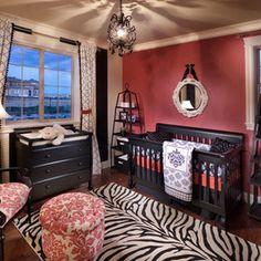 Baby Nursery Room with Black Furniture Set - Home Interior Decor - 16840 Zebra Print Rooms, Zebra Room Decor, Baby Room Design, Nursery Design, Nursery Curtains, Nursery Room, Nursery Ideas, Nursery Decor, Nursery Inspiration