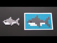 Perler Bead Shark Pattern. Laceys Crafts is all about sharing super simple and adorable crafts for kids. Enjoy!