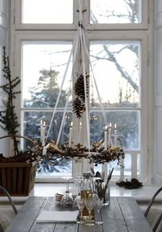 Natural Holiday Decor Ideas - Francois et Moi - Advent wreath pure and simple - Noel Christmas, Scandinavian Christmas, Country Christmas, Winter Christmas, Xmas, Danish Christmas, Cottage Christmas, Christmas Kitchen, Christmas Morning