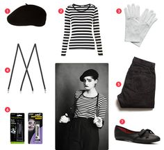 Easy Halloween Costume - Mime   To Live Beautifully