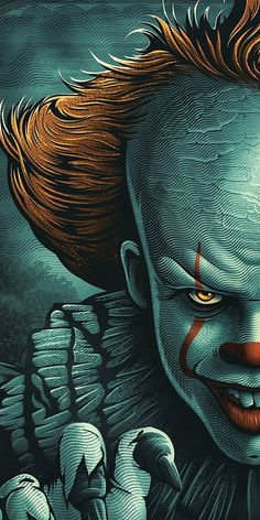 Clown Horror Movie, It The Clown Movie, Horror Movie Characters, Horror Movies, Foto Tokyo Ghoul, Scary Wallpaper, Amazing Wallpaper, Horror Drawing, Es Der Clown