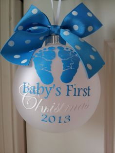 Baby's First Christmas Personalized Custom by LittleOnceBoutique