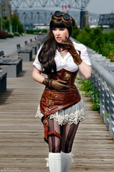Steam Punk Lady by ShadowDreamers.deviantart.com on @deviantART