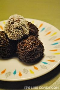 I made Brazilian fudge balls a.k.a. brigadeiros! Read about them on my chocolate blog. - Jasmine
