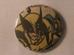 """NEW ETSY ITEM// Comic Book 1.5"""" Button// Wolverine, $1.00"""