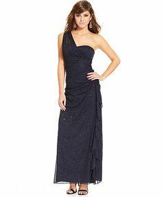 585499f609 Blondie Nites Juniors  One-Shoulder Ruffled Dress Juniors - Dresses - Macy s