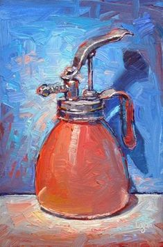 """Daily Paintworks - """"Little Pink Atomizer"""" by Raymond Logan"""