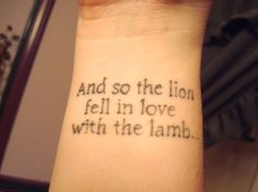 Twilight tattoo! NOT getting this, but I love this quote!!