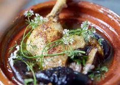 Tajine de cuisses de canard aux figues fraîches