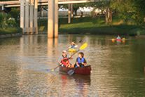 Kayak down Buffalo Bayou to get a different look of downtown Houston.  Tours are only given once a month for a cost of about 60 bucks per person. This is a unique and fun activity - do it before it gets too hot! ~ Houston Foodlovers
