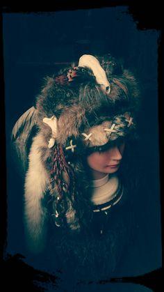 Shaman Headdress Costume Headdress Barbarian by PrimalForged