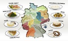 Spezialitaeten in verschiedenen deutschen Regionen