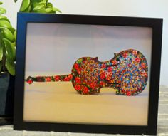 8 x 10 Framed Print - Violin Art - Hand Painted Violin Print - Flowers on Violin - Floral Acrylic Violin Print - Small Walll Art - Music by CreateThriveGrow on Etsy
