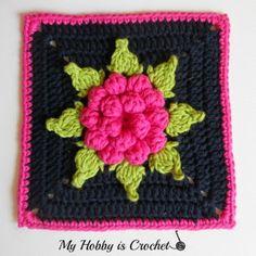 flower granny square http://www.myhobbyiscrochet.com/2014/07/majestic-bloom-granny-square-free.html