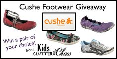 1.5 HOURS LEFT - did you enter? CUSHE Mens's, Women's and kids shoes! You choose your pair if you win! (ends 9/16)