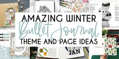 Full of wonder beautiful Bullet Journal theme ideas for cold winter months. Plus fun page ideas you can include in your setup.