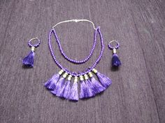 tassel jewellery necklace+ earring